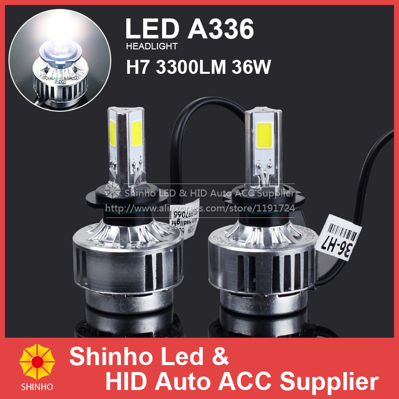 Hot Sale Led Headlight All In One A336 H7 Car Led Headlight Fog Lamp 3 COB 3300LM 6000K H7 Led Car Headlight Bulbs<br><br>Aliexpress