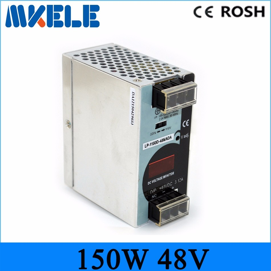 Free shipping din rail Switching Power Supply LP-150-48 150W 48v 3.2A ac-dc power supply for LED Strip light<br>