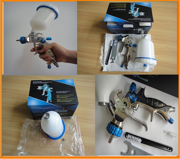 SAT1215 1.7mm nozzle hvlp spray gun from china   automatic professional blue painting machine<br><br>Aliexpress