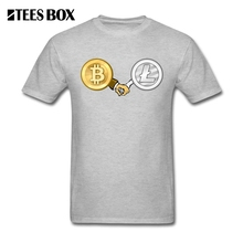 Buy Litecoin Bitcoin Hand Gray T Shirt Men's O Neck Short Sleeve Tops Cotton Tee Shirt Funny Male T-Shirt Plus Size XXXL for $12.10 in AliExpress store
