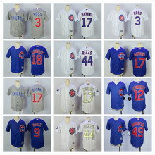 Majestic Chicago Cubs Javier Baez Kris Bryant Anthony Rizzo 2017 Gold Program World Series Champions youth kids Jersey