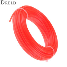 DRELD 15m*2.4mm Nylon Trimmer Line Garden Cord Wire String Grass Trimmer Line For Robot Lawn Mower Grass Cutter Trimmer Line