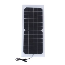 10W 12V Semi-flexible Transparent Solar Cell Panel with DC Output Size 440*190mm Mini Solar panel for DIY Solar System and DIY