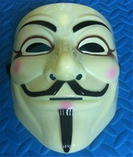 20pcs Halloween Cosplay V for Vendetta Mask Guy Fawkes Anonymous Fancy dress costume(China)