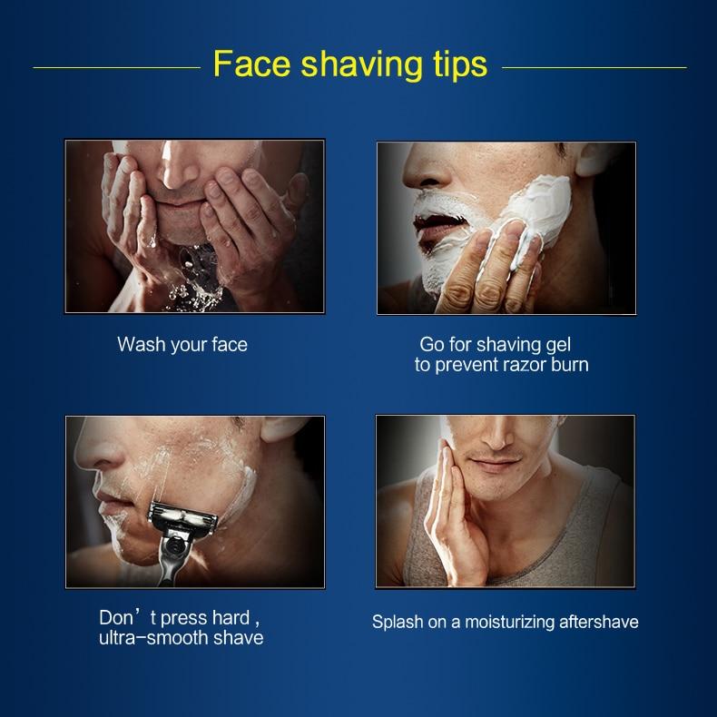 8  Gillette Mach 3 Safety Razor Shaving Razor Shaving Blades Double Edges Beard Shaver Shave 1 Razor Holder 1 Blade