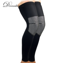 1pcs elastic Basketball Sports Knee pads brace Breath Lengthening Outdoor knee support Compression Football Hiking Running socks(China)