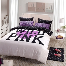 pink leopard print bedding white/purple duvet cover set / romantic bedspreads bed sheet set wedding bedding queen bed set
