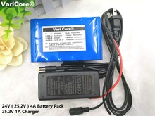24V 4Ah 6S2P  18650 Battery lithium battery  25.2v electric bicycle moped /electric/lithium ion battery pack+25.2v 1A charger