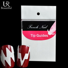1Pcs 6cm*6.2cm Pure White Color French Nail Tip Guides Nail Beautiful Stickers Simple Nail Art Decorations Tools BEFJ022