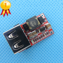 2pcs/lot 6-24V 24V 12V to 5V USB Step Down Module DC-DC Converter Phone Charger Car Power Supply Module Efficiency 97.5%(China)