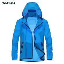 TAPOO Men's Coat Skin Jacket Windbreaker Mens Brand Simple Fashion Waterproof Windproof Ultra Thin Quick Dry Jacket Coat Mens