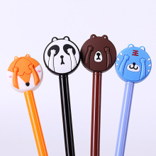 1 Pics 0.38mm Japanese Sunny Doll Sakura Black Kawaii Chinese Cute Glitter Korean Gel Pen Korea School Supplies Stationery Pens