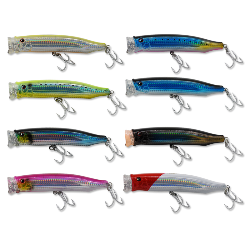 Free shipping popper bait150mm/54.5g 8colors VMC hook hard fishing lure dogwalking Japan isca artificial para pesca leurre peche<br><br>Aliexpress