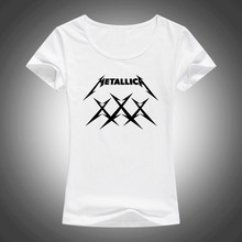 Buy MeTallica T Shirts Women Heavy Thrash Metal Rock T-shirt Short Sleeve Cotton Rock Band T-Shirt Camisetas F64 for $6.59 in AliExpress store