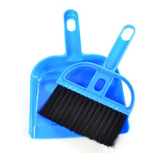 1 set Mini Desktop Sweep Cleaning Brush Small Broom Dustpan Set for table computer cleaning drop shipping sale