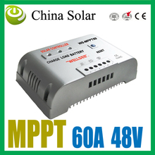WS MPPT Solar Charge Controller 60A 48V ,Solar battery charge controller,PV Controller(China)