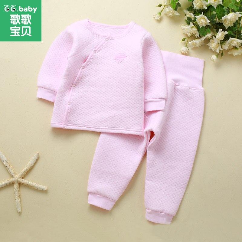 2pcs/Set Cotton Baby Sets Winter Baby Clothing Set Bebes Outfits Warm High Waist Pants Infant Newborn Suits Girl Boy Clothes Set<br><br>Aliexpress