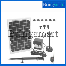 Bringsmart 12W DC Pump Solar Fountain Pumps With Remote Controller Solar Garden Fountain Pumps