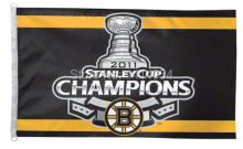 Boston Bruins 2011 NHL Stanley Cup Champions Flag 150X90CM 3X5FT Banner 100D Polyester flag grommets 009, free shipping(China)