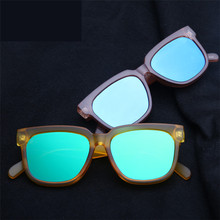 Men Women Oculos De Sol Feminino Glasses Transparent Color Film Frame Sunglasses Brand Designer Vintage Peppers Sunglasses