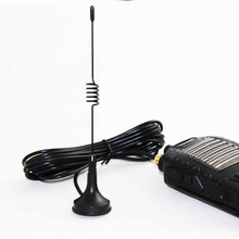 Handheld UHF antenna SMA-F 101s frequency:400-470MHz + Small suction cup with 3m feeder for  two way radio free shipping