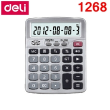 [ReadStar]Deli 1268 real pronunciation 12 digits Office Desktop calculator student officers suppliers shipping free