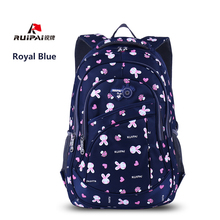 RUIPAI Backpack Schoolbag Hello Kitty Backpack Kids Backpack School Bags For Girls Rabbit Pattern Cartoon Primary Students Bag(China)