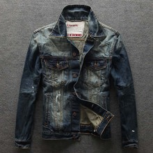 Men's Casual Single Breasted Denim Jacket 2016 Brand New Fashion Mens Jeans Jackets and Coats High Quality