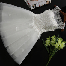 In Stock New white short wedding dress brides Beautiful lace wedding dress bridal gown vestido de noiva Special Occasion Dress(China)