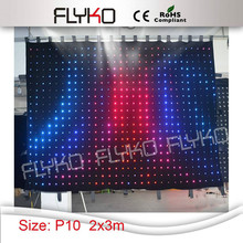 Free shipping P10 2x3m best price flexible indoor led video cloth,text, gif display