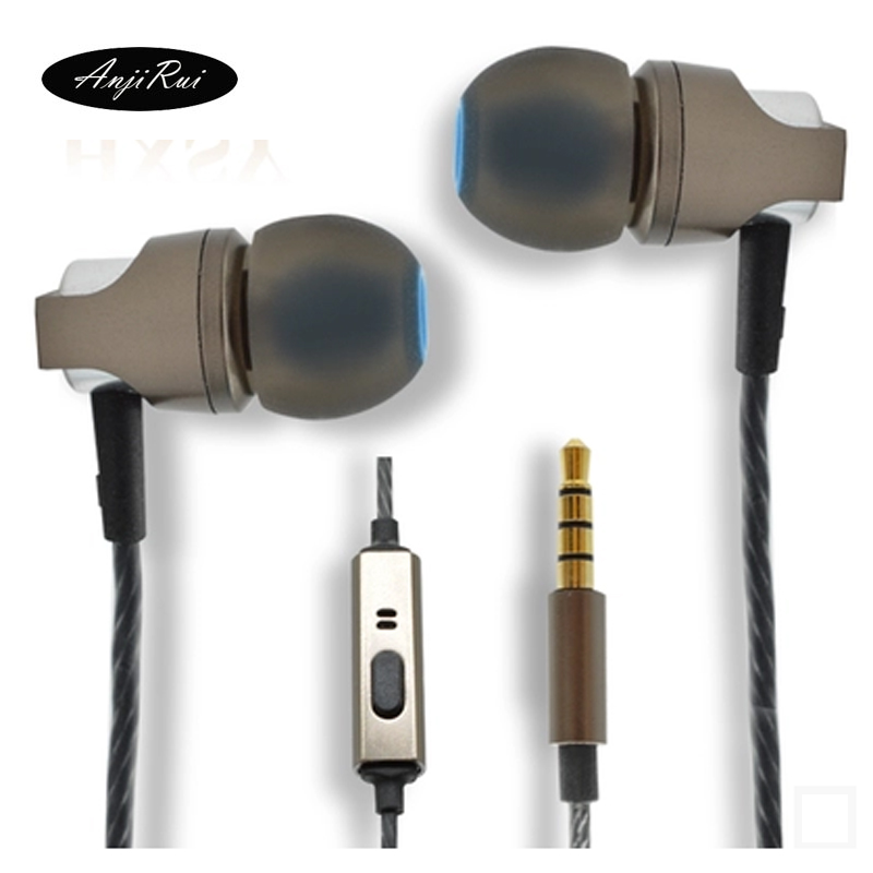 ROCK In Ear Stereo Earphone HiFi Headset 3.5mm Luxury Earbuds For iPhone Samsung With Mic clear bass BASS Metal DJ Ear Earphone<br><br>Aliexpress