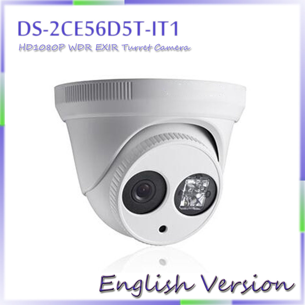 english version Turbo HD1080P EXIR Dome Camera DS-2CE56D5T-IT1 ,True WDR, up to 120dB<br><br>Aliexpress
