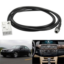 Car Auto Aux Adapter Cable 12 Pin AUX Auxiliary Audio Input Kit Iphone Ipod Adapter Cable for BMW E60 E61 E63 E64 Car-Styling(China)