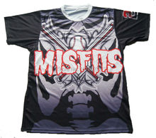 Misfits Team Black Softball Shirt With Custom Names and Numbers