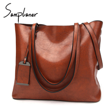 Buy Samplaner Retro Luxury Lady Handbags Famous Brand Women's Big Bag PU Leather Female Shoulder Bags Large Capacity Women Totes for $29.35 in AliExpress store