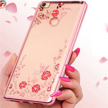 Case for Xiaomi Redmi 4X Cover 5.0 Flower Bling Diamond Soft TPU Silicone Clear Bumper for Xiaomi Redmi 4X Pro / 4 X Case Funda