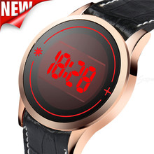Men's Fashion watch LED Digital Touch Screen Day Date Silicone Wrist Watch new relogio masculino Dropshipping Free Shipping NMX9