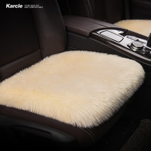 Karcle 6CM Long Plush Car Seat Covers 1PCS Breathable Seat Cushion Pad Car-Styling Super Warm Winter Non-slip Auto Accessories(China)