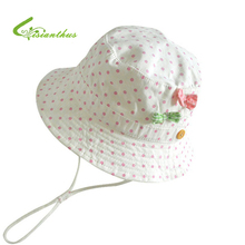 Children Girls Sun Hats Spring Summer Caps Polka Dots Beach Hat Baby Kids Princess Bucket Hat New Fashion Free Drop Shipping(China)