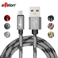 Effelon 1M/2M Fast Charging Micro USB Cable Mobile Phone USB Charger Data Sync Cable for Samsung/HTC/Xiaomi Android Phone