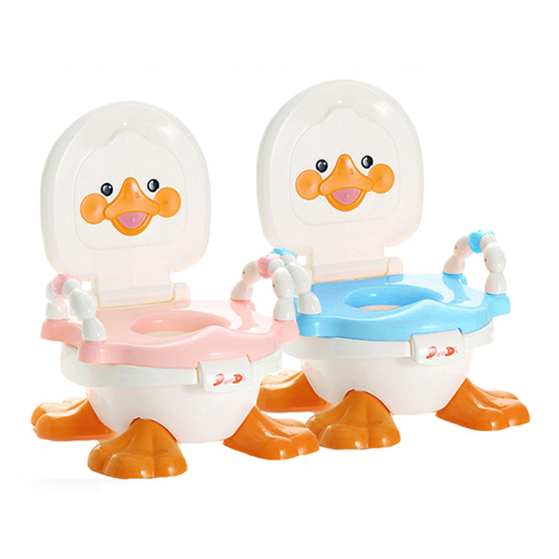 Lovely Cartoon Duck Shape Toilet For Baby New Design Infants Close Stool Children Training Urinal Safety Plastic Unisex Potties<br><br>Aliexpress
