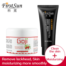 Firstsun Charcoal Bubble Mask Peel-off Pore Cleaner Facial Mask and Goji berry facial cream goji cream Replenishment Moisturizer