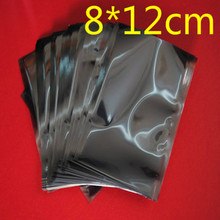 8cm*12cm Open Top Anti-Static Shielding Plastic Pack Packaging Bags ESD Anti Static Packing Bag Antistatic Storage Bags