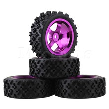 Mxfans 4 x RC 1:10 On Road Car Alloy 5 Spoke Wheel Rim + Flower Pattern Rubber Tyre Mxfans