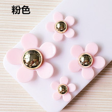 Lovely Pink Plastic Daisy Flower Jewelry Craft Button Patch Sticker Phone Case Decoration Patch Button 40PCS 4 Different Sizes