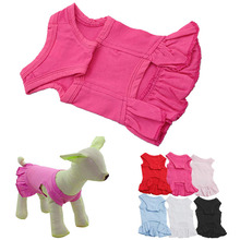 New Arrival Puppy Pet Dog Sundress & Solid Cotton Small Dog Jumper Clothes Cute Apparel ropa perro Smile