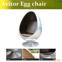 U-BEST High quality Arne Style Aviator Egg Chair,aluminum egg pod chair, office space furniture(China)