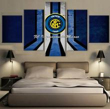 5 Pieces Italian Football Funs Wall Art Picture Modern Home Decoration Living Room Or Bedroom Canvas Print Painting Wall Picture