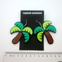 6 pair /lot fashion jewelry accessories acrylic coconut palm tree earrings for women 2015