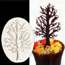 Tree Shape Silicone Mold For Cupcake Fondant Cake Decorating Tools Chocolate Candy Jelly Gumpaste Moulds Sugarcraft Decorations(China)